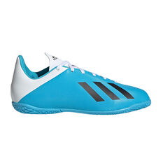 adidas X 19.4 Kids Indoor Soccer Shoes Blue / Black US 11, Blue / Black, rebel_hi-res