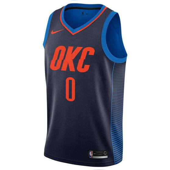 555d8010fb2df Nike Oklahoma City Thunder Russell Westbrook Alternate 2018 Mens Swingman  Jersey Navy S, Navy,