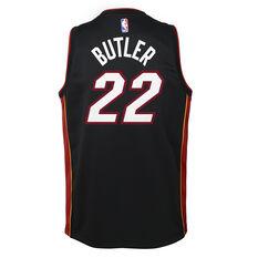 Nike Miami Heat Jimmy Butler 2019/20 Kids Icon Edition Swingman Jersey, Black, rebel_hi-res