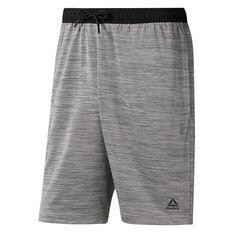 Reebok Mens Workout Ready Knit Shorts Grey S, Grey, rebel_hi-res