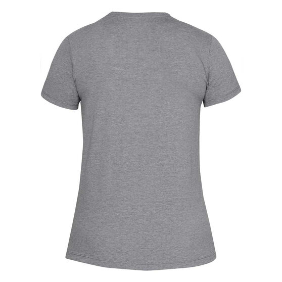 Under Armour Womens Graphic WM Classic Tee, Grey, rebel_hi-res