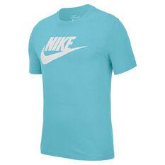 Nike Mens Sportswear Icon Futura Tee Aqua XS, Aqua, rebel_hi-res