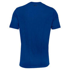 Under Armour Mens Seamless Tee, Blue, rebel_hi-res