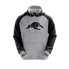 Penrith Panthers 2019 Mens Hoodie Grey S, Grey, rebel_hi-res