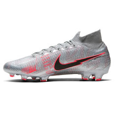 Nike Mercurial Superfly VII Elite Football Boots Silver/Red US Mens 6 / Womens 7.5, Silver/Red, rebel_hi-res