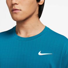 NikeCourt Breathe Mens Slam Tee Green XS, Green, rebel_hi-res