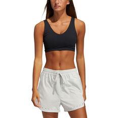adidas Womens Cozy Yoga Sports Bra Black XS, Black, rebel_hi-res
