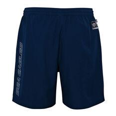 Manly Warringah Sea Eagles 2021 Kids Sports Shorts, Navy, rebel_hi-res