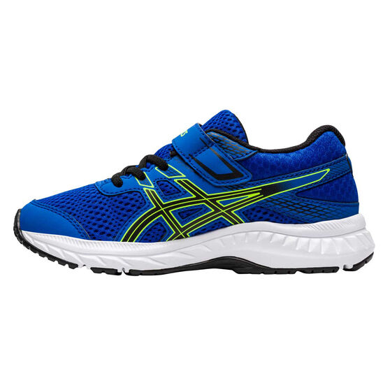 Asics GEL Contend 6 Kids Running Shoes, Blue / Green, rebel_hi-res
