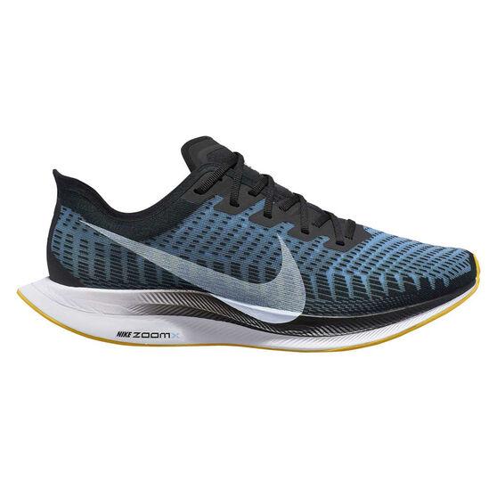 Nike Zoom Pegasus Turbo 2 Womens Running Shoes, Black / Blue, rebel_hi-res