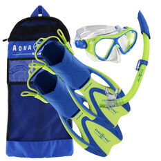 Aqua Lung Sport Junior Urchin Snorkel Set Green S / M, Green, rebel_hi-res