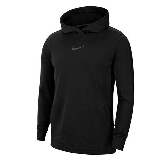 Nike Pro Mens Fleece Hoodie, Black, rebel_hi-res