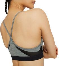 Nike Womens Dri-FIT Indy Padded Sports Bra Grey XS, Grey, rebel_hi-res