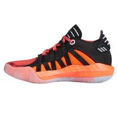 adidas Dame 6 Geek Up Kids Basketball Shoes Red/Grey US 4, Red/Grey, rebel_hi-res