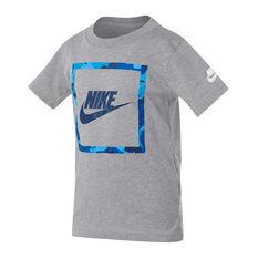 Nike Boys Futura Camo Knit Tee Grey 4, Grey, rebel_hi-res