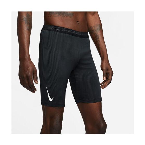Nike Mens AeroSwift 1/2 Length Running Tights, Black, rebel_hi-res