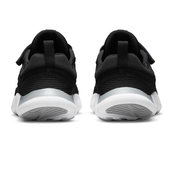 Nike Free RN 2021 Kids Running Shoes, Black/White, rebel_hi-res
