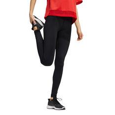 adidas Womens Believe This Primegreen Camo Long Tights Black XS, Black, rebel_hi-res