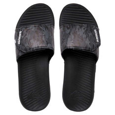 Quiksilver Bright Coast Adjust Mens Slides Grey/Black UST 8, Grey/Black, rebel_hi-res