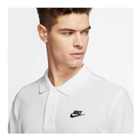 Nike Sportswear Mens Matchup Pique Polo, White, rebel_hi-res