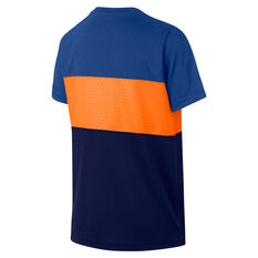 Nike Boys Dry Academy Football Top Blue / Orange XS, Blue / Orange, rebel_hi-res