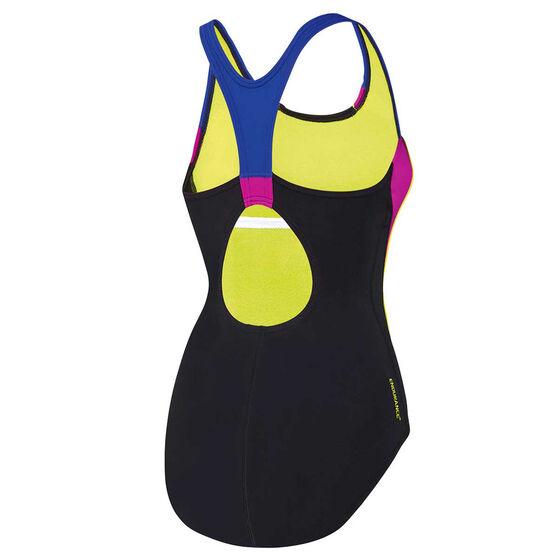 Speedo Womens Image Uplift One Piece Swimsuit, Black, rebel_hi-res