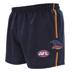 Adelaide Crows Kids Home Supporter Shorts Navy 4, Navy, rebel_hi-res