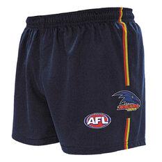 Adelaide Crows Kids Home Supporter Shorts Navy 4, Navy, rebel_hi-res