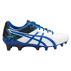 Asics GEL Lethal Tigreor 10 IT Mens Football Boots White / Imperial US 7 Adult, White / Imperial, rebel_hi-res