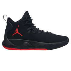 Nike Jordan Super.Fly MVP Mens Basketball Shoes Black / Red US 7, Black / Red, rebel_hi-res