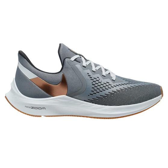 Nike Air Zoom Winflo 6 Mens Running Shoes, Grey, rebel_hi-res