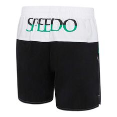 Speedo Mens Split Logo Watershorts Black / Green S, Black / Green, rebel_hi-res