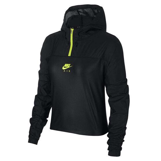 Nike Air Womens Hooded Jacket Black S, Black, rebel_hi-res