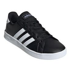 adidas Grand Court Kids Casual Shoes, Black/White, rebel_hi-res