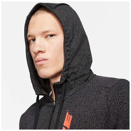 Nike Mens Dry-FIT Full Zip Fleece Sports Clash Jacket, Black, rebel_hi-res