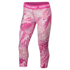 Nike Girls Printed Capris Fuschia XS, Fuschia, rebel_hi-res
