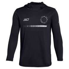 Under Armour Boys SC30 Shooting Shirt Black / Grey XS, Black / Grey, rebel_hi-res