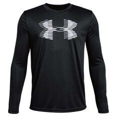 Under Armour Boys Tech Big Logo Solid Top Black / White XS, , rebel_hi-res