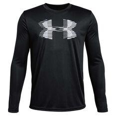 Under Armour Boys Tech Big Logo Solid Top Black / White XS, , rebel_hi-res