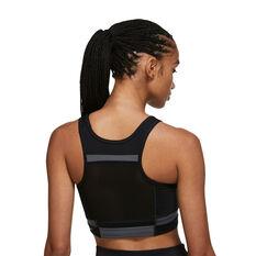 Nike Womens Dri-FIT Swoosh Run Division Sports Bra Black XS, Black, rebel_hi-res