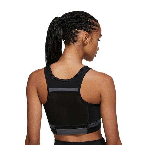 Nike Womens Dri-FIT Swoosh Run Division Sports Bra, Black, rebel_hi-res