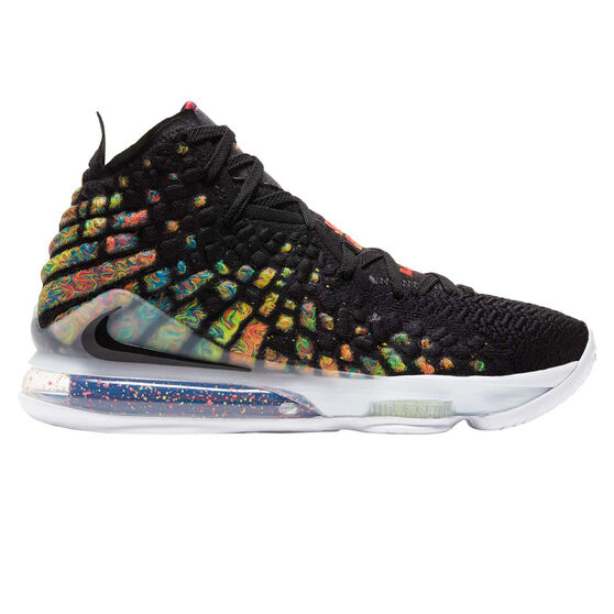 Nike LeBron XVII Mens Basketball Shoes Black/Multi US 8, Black/Multi, rebel_hi-res