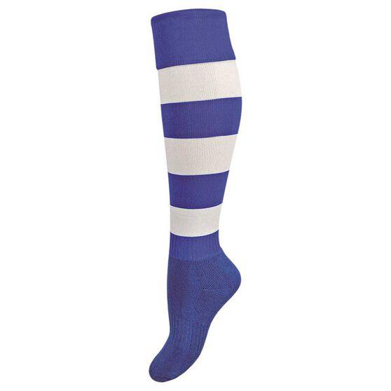 Burley Kids Football Socks, Royal  /  white, rebel_hi-res