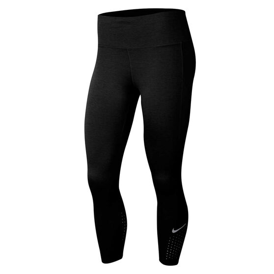 Nike Womens Epic Luxe Crop Running Tights, Black, rebel_hi-res