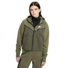 Nike Womens Sportswear Tech Fleece Windrunner Hoodie Green XS, Green, rebel_hi-res