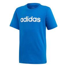 adidas Boys Essentials Linear Tee Blue 6, Blue, rebel_hi-res
