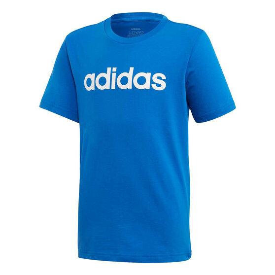 adidas Boys Essentials Linear Pants Blue / White 4, , rebel_hi-res