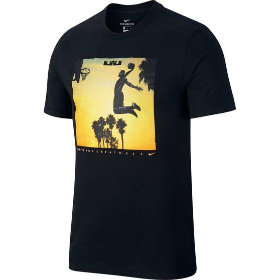 Nike Mens Dri-FIT LeBron Basketball Tee, Black, rebel_hi-res