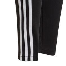 adidas Girls Essentials 3-Stripes Tights, Black, rebel_hi-res