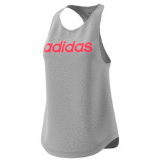 adidas Womens Essentials Linear Tank Grey XS, Grey, rebel_hi-res